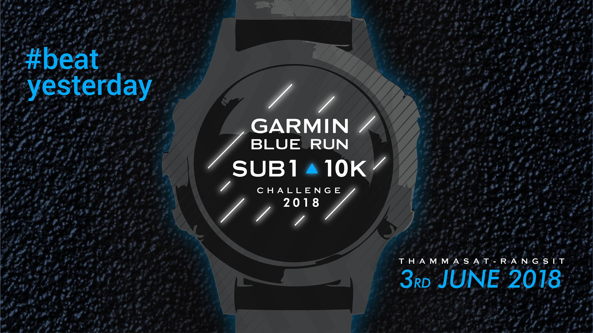 Garmin Blue Run Sub1 10K Challenge 2018